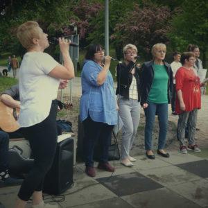 Ewangelizacja w parku Hallera 07.07.2019